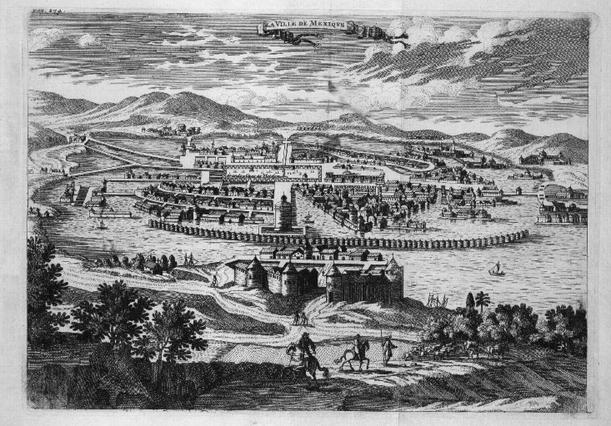 Une plaque de cuivre de Tenochtitlan du XVIIe siècle - Crédit : Jan Karel Donatus Van Beecq