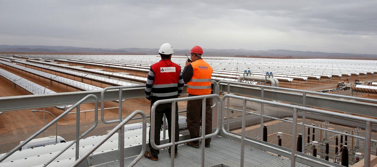 Le plus grand complexe thermosolaire au monde se trouve au Maroc - Crédit: Reuters/Youssef Boudlal