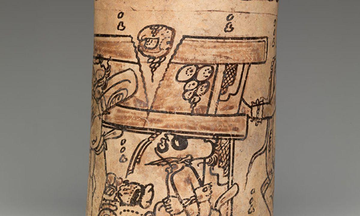 Mayas - Les détails d'un vase maya de style Codex 7ème ou 8ème siècle - Crédit : Met Museum, New York