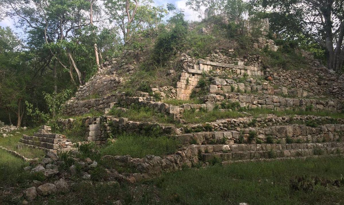 Une pyramide sur le site de Kiuic dans l'État du Yucatan, au Mexique - Crédit : Kenneth Seligson, CC BY-ND