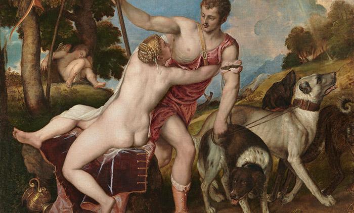 Fig 4. Vénus et Adonis, Titian, 1554. Museo del Prado, Madrid - Crédit : Wikimedia