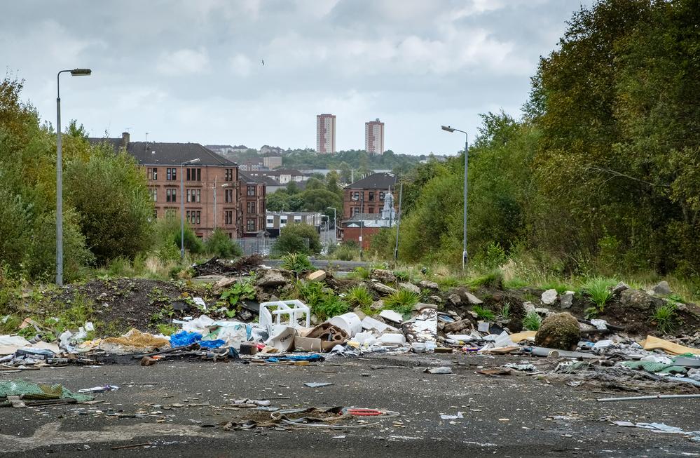 Circulaire dans les rues de Possilpark, au nord de Glasgow - Crédit : Chris Leslie pour Mosaic