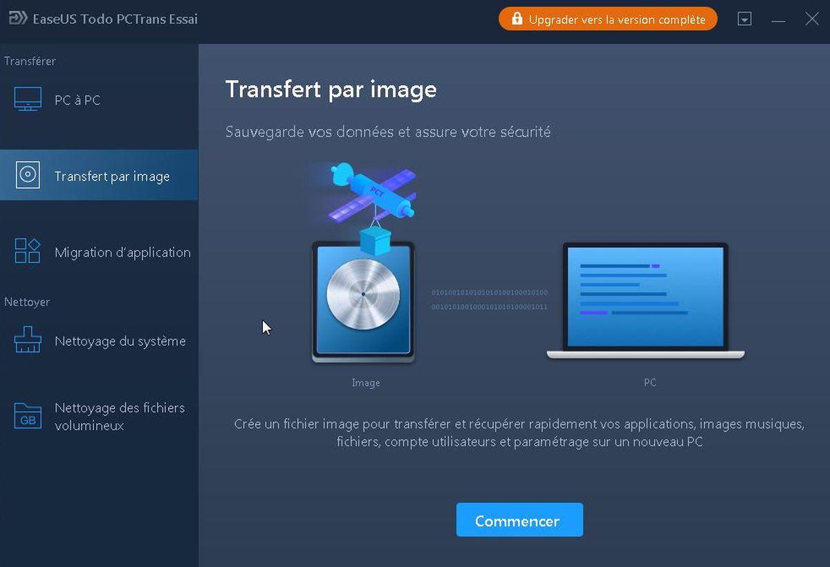 EaseUS Todo PCTrans Professional est un logiciel qui permet de transférer vos données et vos applications d'un PC à un autre sans la moindre prise de tête.