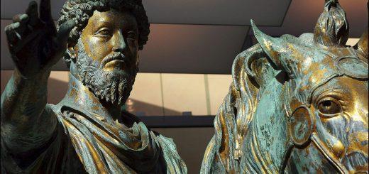 Marc Aurèle au Musée du Capitole, Rome. Photo d'Antonello Nusca / Gamma-Rapho / Getty
