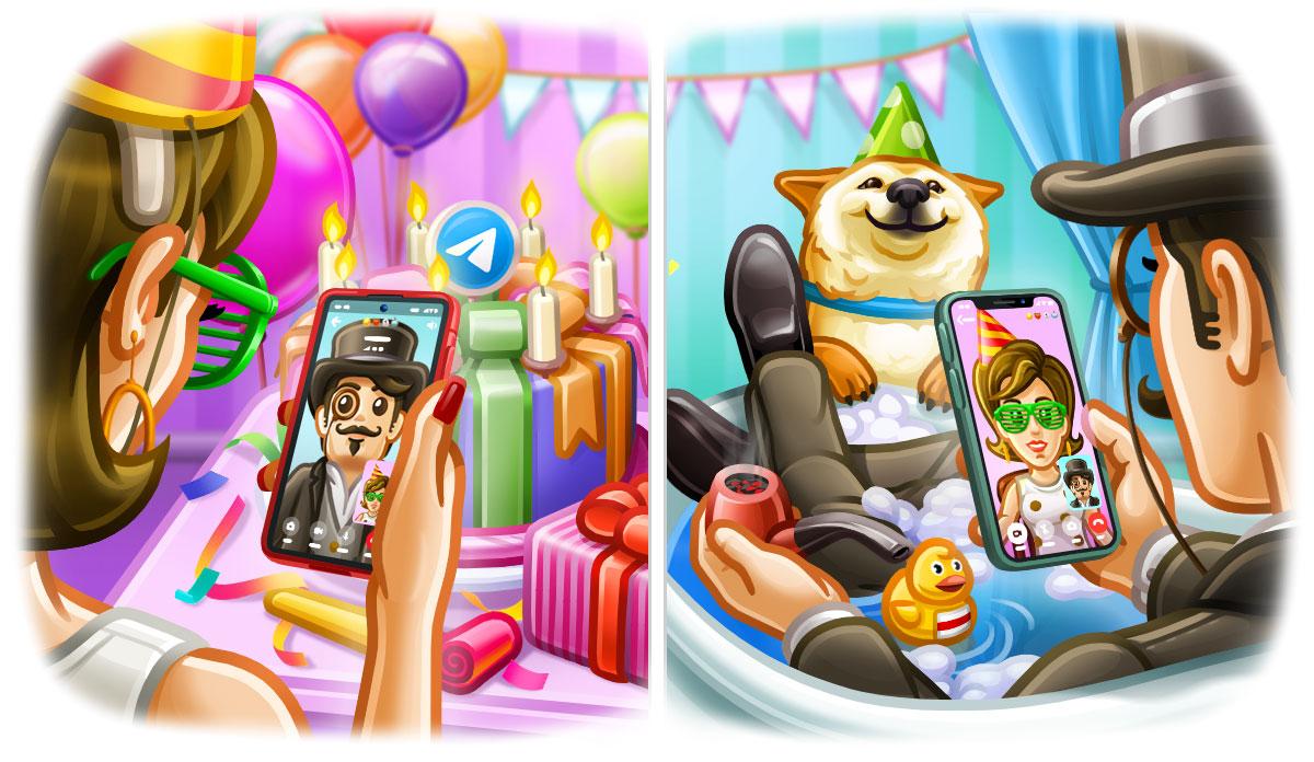 Avec la version qui marque le septième anniversaire de Telegram, on a l'arrivée des appels vidéos dans l'application sur iOS et Android.