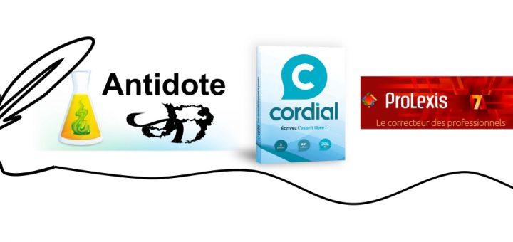 Quand on parle de logiciel de correction, Antidote, Cordial Néo et ProLexis sont largement des références. ProLexis étant réservé pour les professionnels.