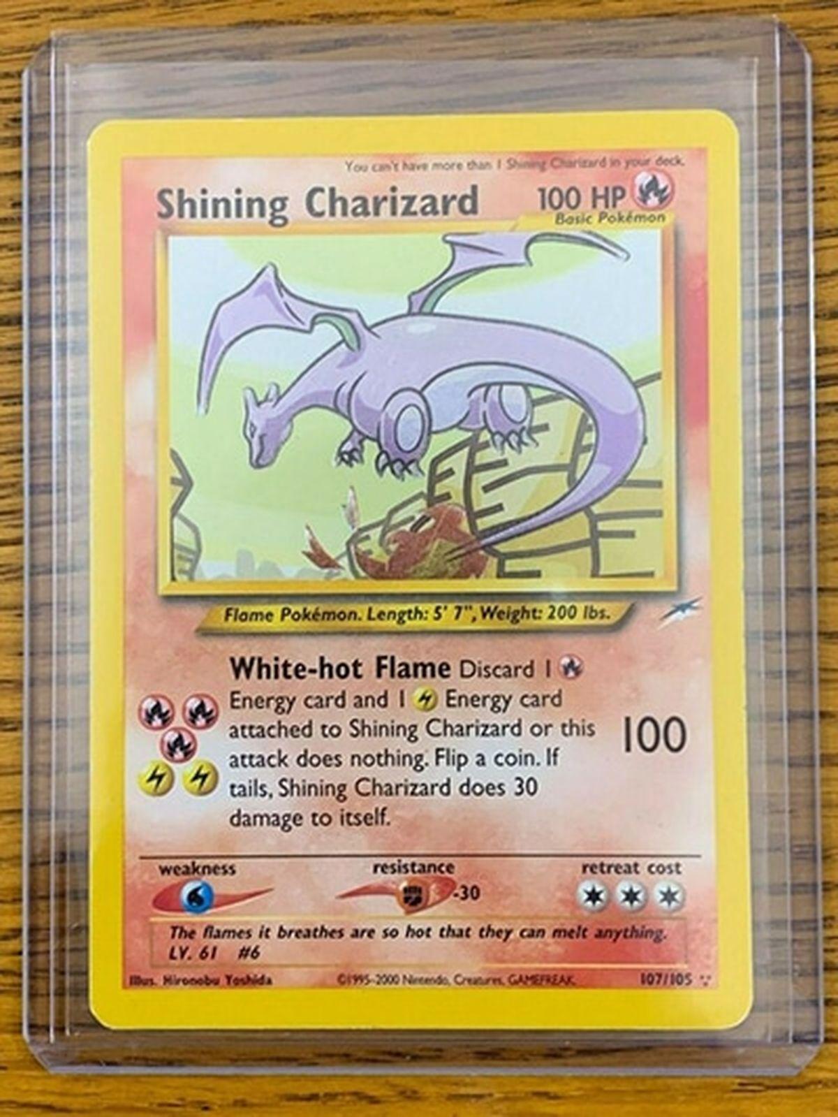 Une carte Pokémon Charizard, une édition unique de la version de 1999, s'est vendue à plus de 369 000 dollars. Et d'autres cartes Pokémon existent aussi à des prix démentiels.
