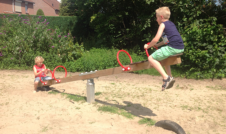 Seesaw with Tyres, Four Seats
