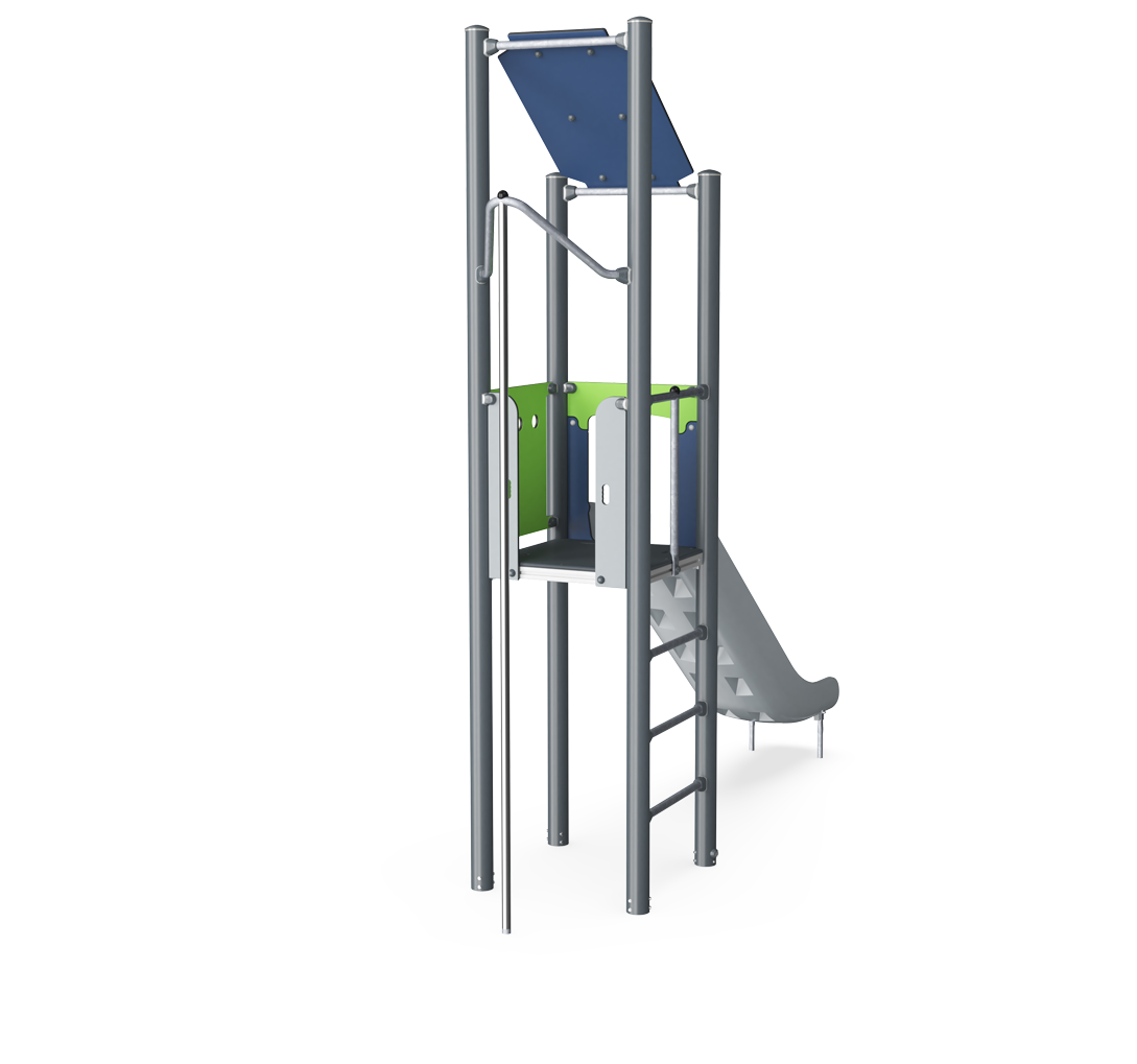 Play Tower With Roof Basic Plastic Slide Moments