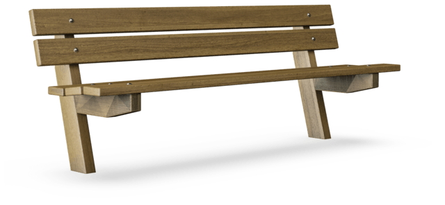 Amazing Avenue Bench With Backrest Classic Outdoor Furniture Pabps2019 Chair Design Images Pabps2019Com