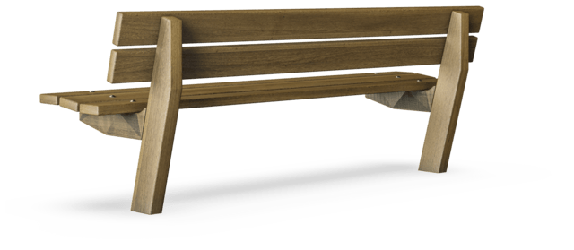 Sensational Avenue Bench With Backrest Classic Outdoor Furniture Pabps2019 Chair Design Images Pabps2019Com