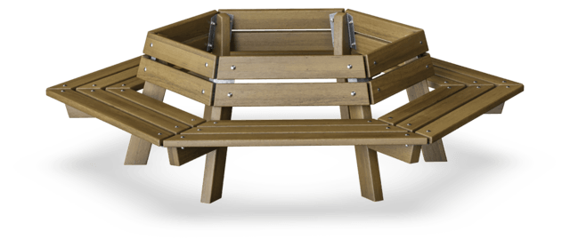 Groovy Circuit Bench With Backrest Classic Outdoor Furniture Pabps2019 Chair Design Images Pabps2019Com