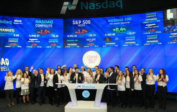 יום מעשים טובים בבורסה בניו יורק