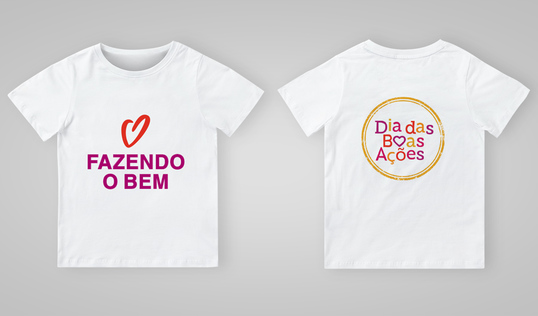 Good Deeds Day T-Shirt in Portuguese