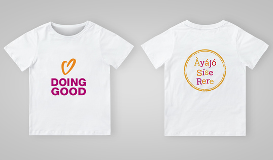 Good Deeds Day T-Shirt in Yoruba