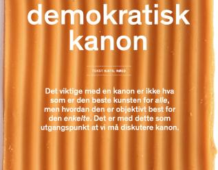 Nødvendigheten av å tenke en demokratisk kanon