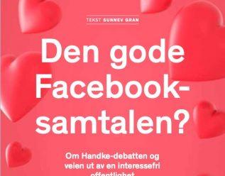 Den gode Facebook-samtalen?