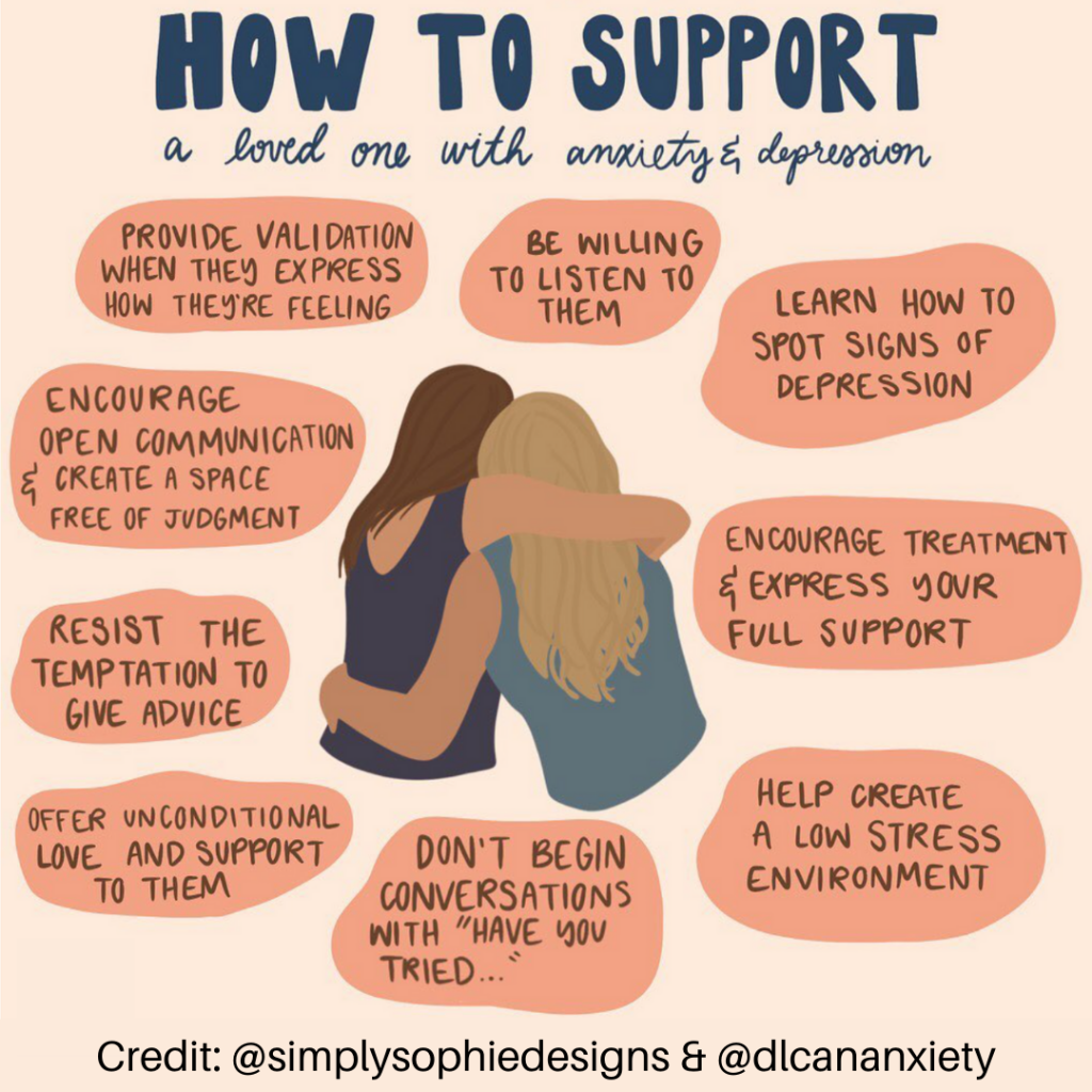 Supporting someone with anxiety