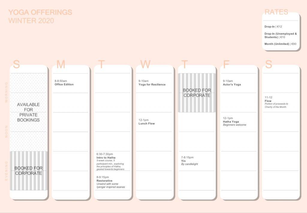 MissFiYoga - Schedule