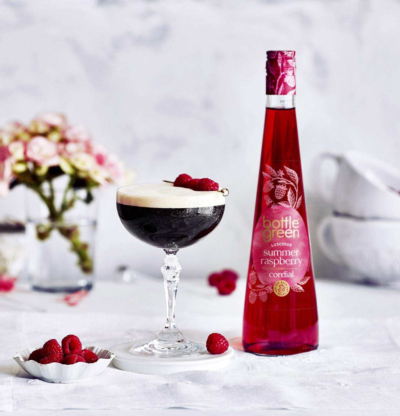 Bottlegreen rasberry espresso martini