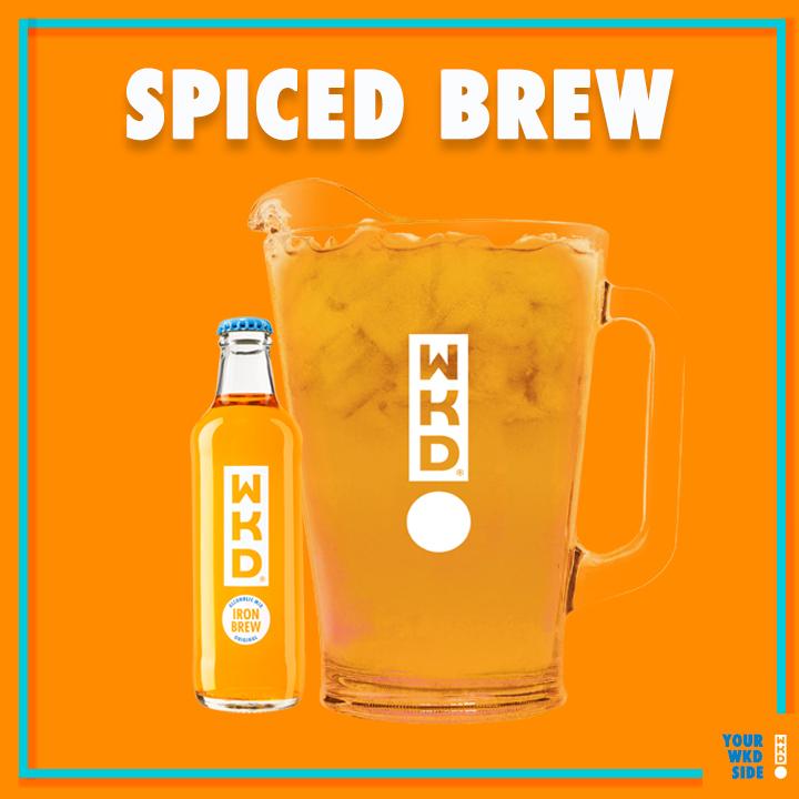 WKD Spiced Brew card