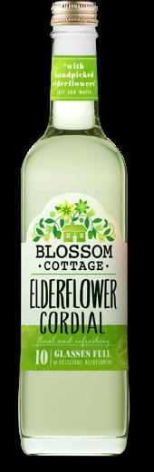 Blossom cottage elderflower range bottle