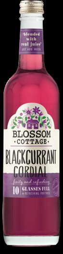 Blossom cottage morello blackcurrant range bottle