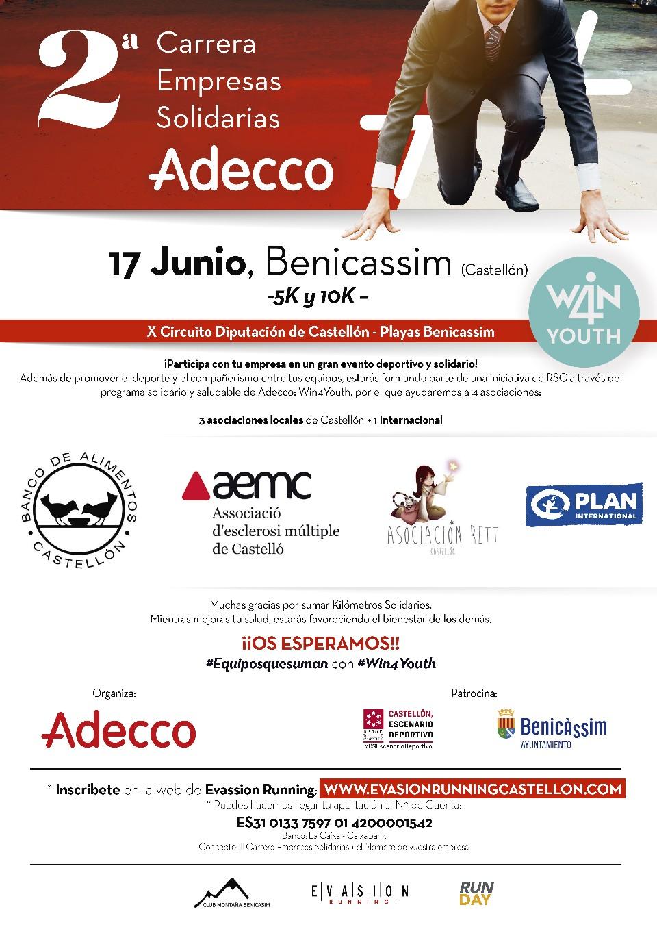 II Carrera de las Empresas Solidarias Adecco - Playas de Benicassim