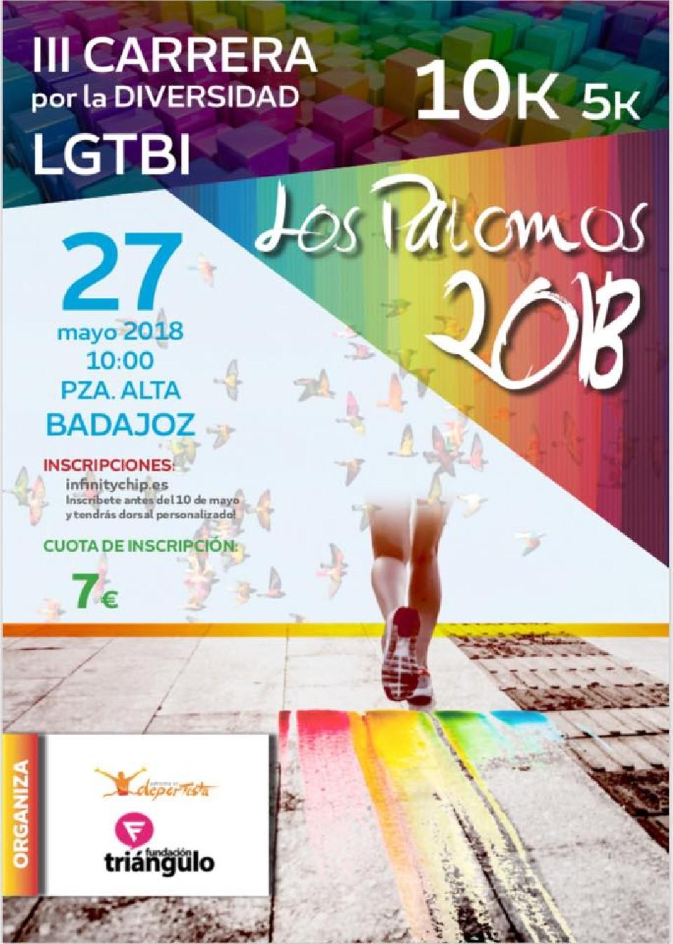 III Carrera por la Diversidad LGTBI · los Palomos 2018