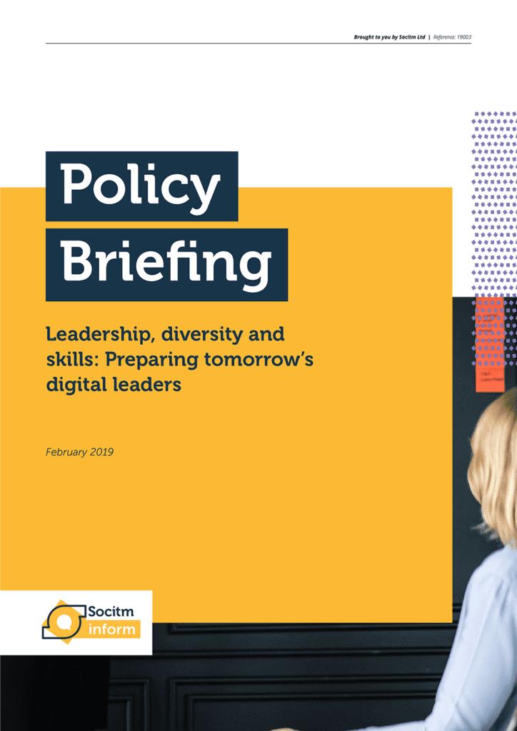 Socitm policy briefing: Leadership, diversity and skills