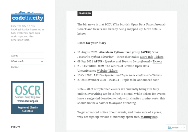 codethecity.org screenshot