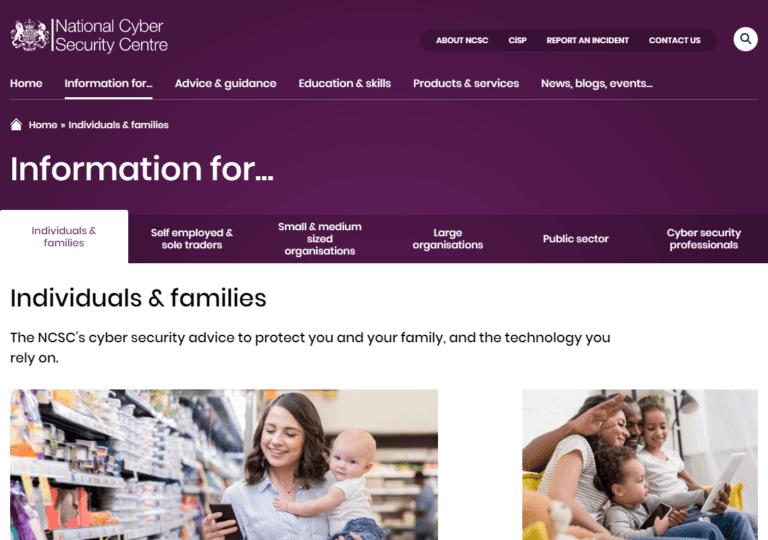 ncsc.gov.uk screenshot