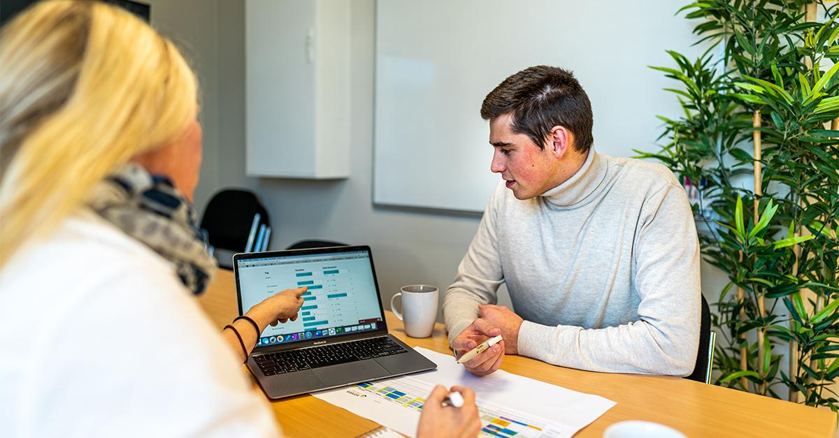Student i rådgivningstime. Foto: Henrik Solberg