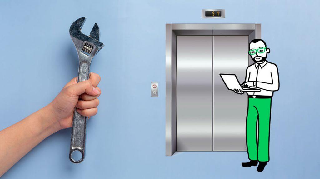 gestire la manutenzione degli ascensori