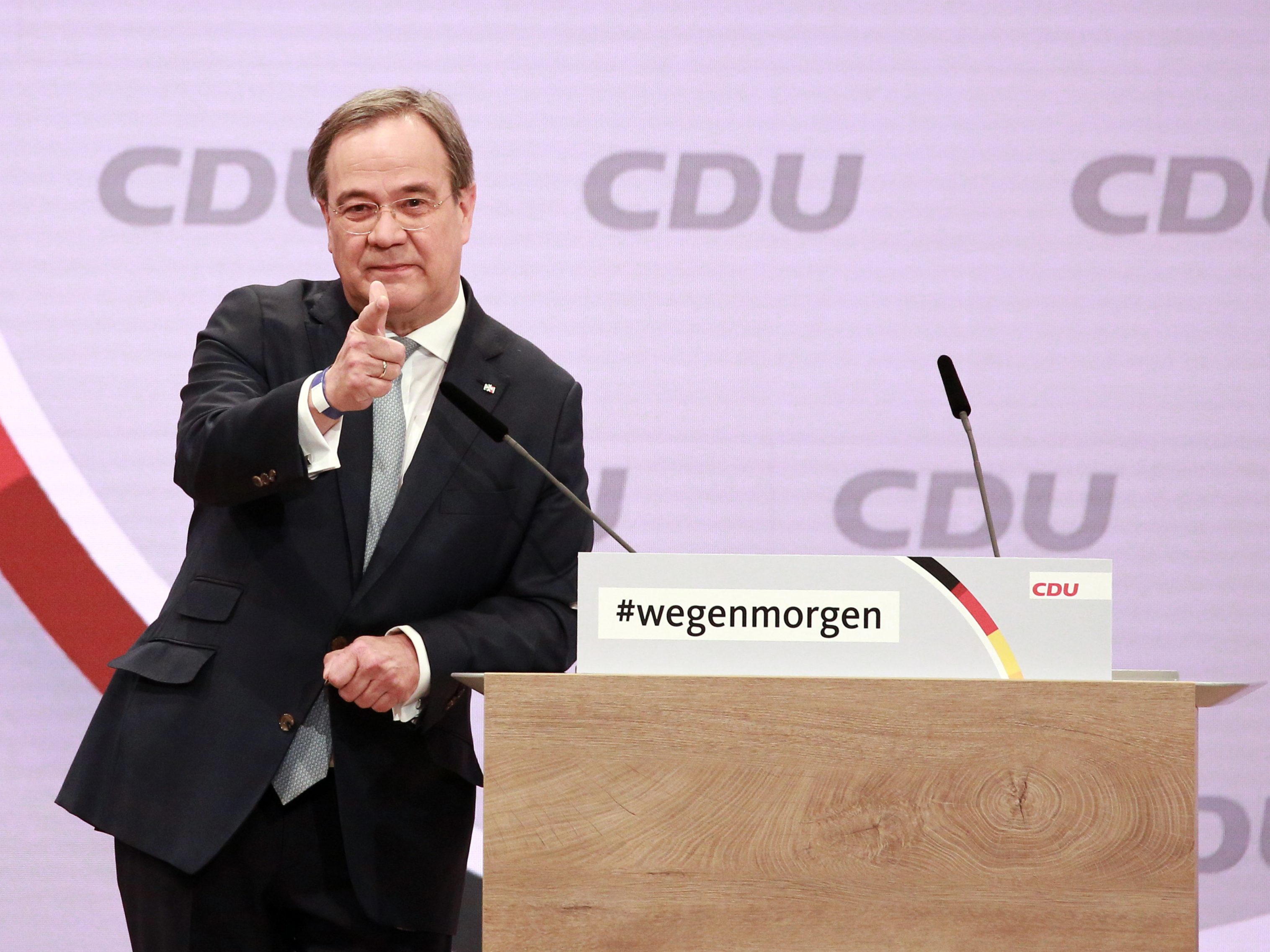 Armin Laschet confirmed as leader of Angela Merkel's CDU party
