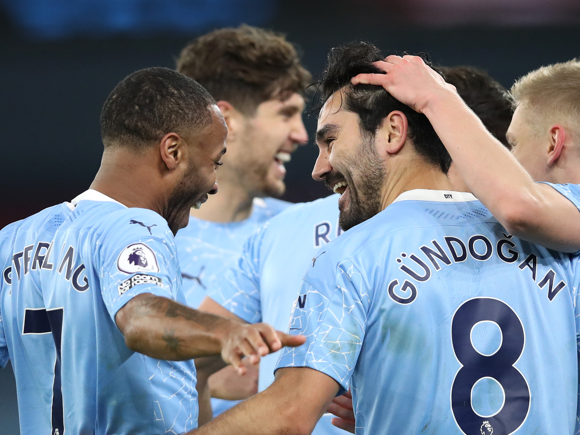Man City run riot against Crystal Palace to go second in Premier League