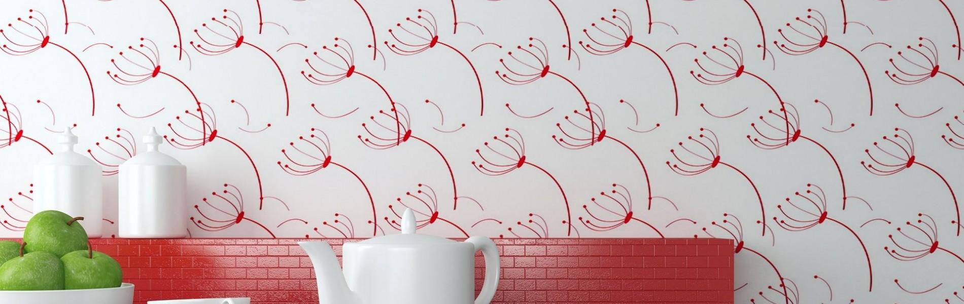 Cuisine tendance: Pose de papier-peint avec OK Service