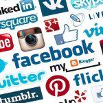 Social network logo digital marketing