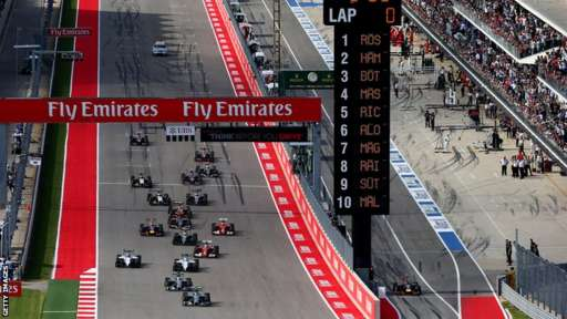 The US Grand Prix gets under way