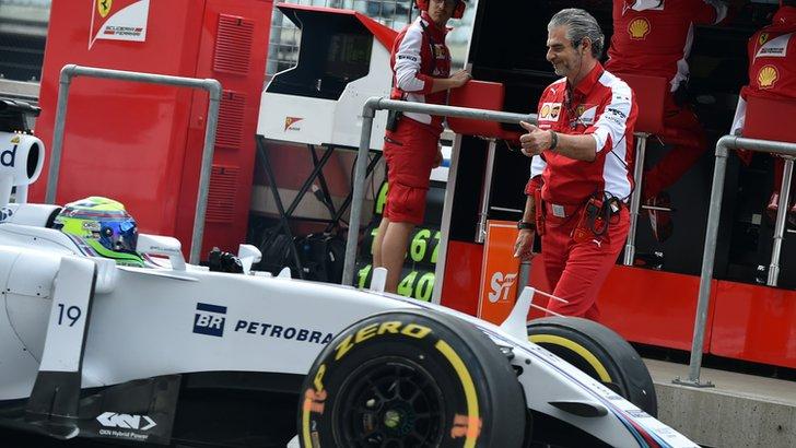Maurizio Arrivabene and Felipe Massa