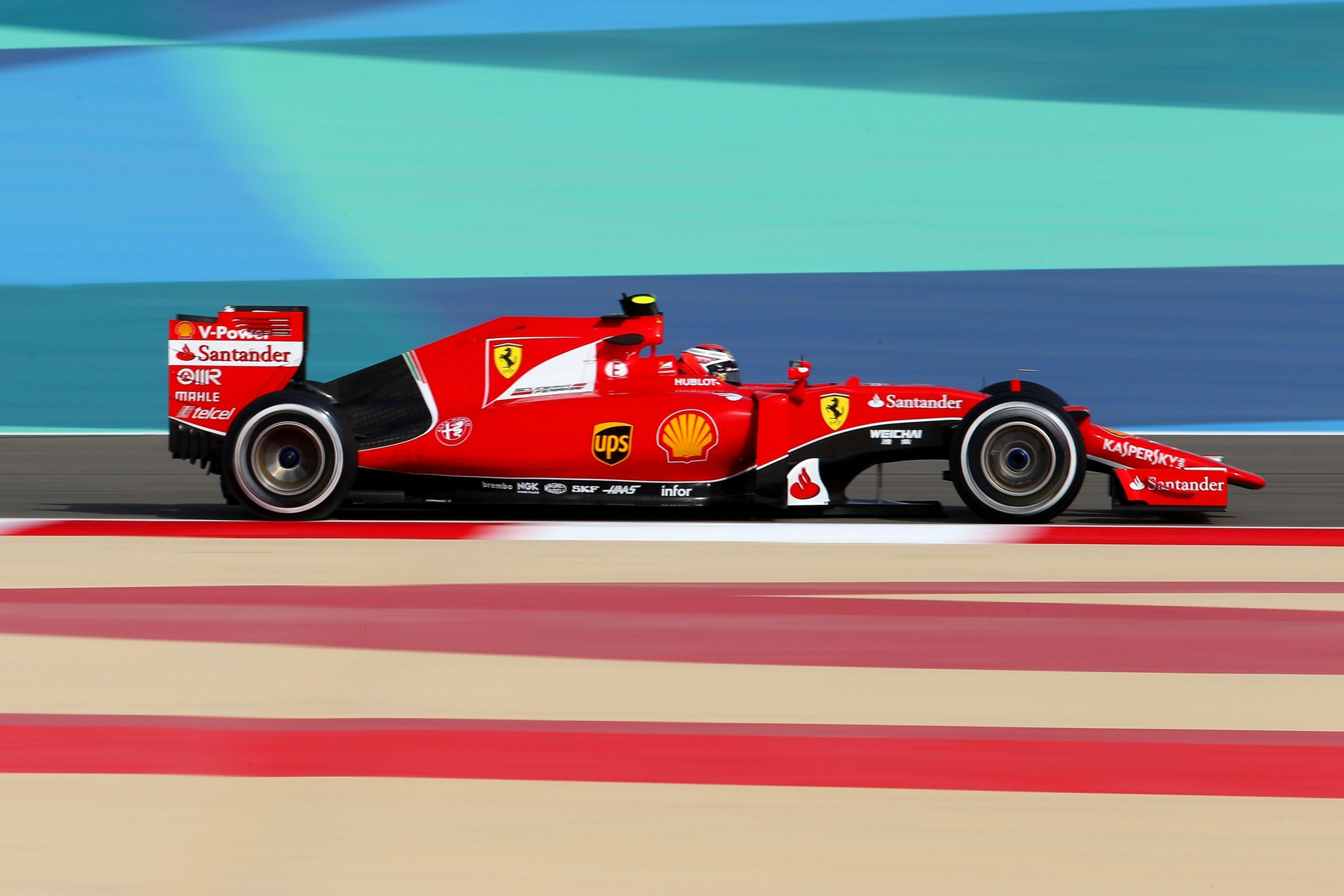 Ferrari during a F1 race