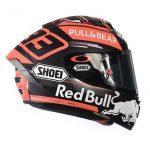 Red bull sponsor helmet