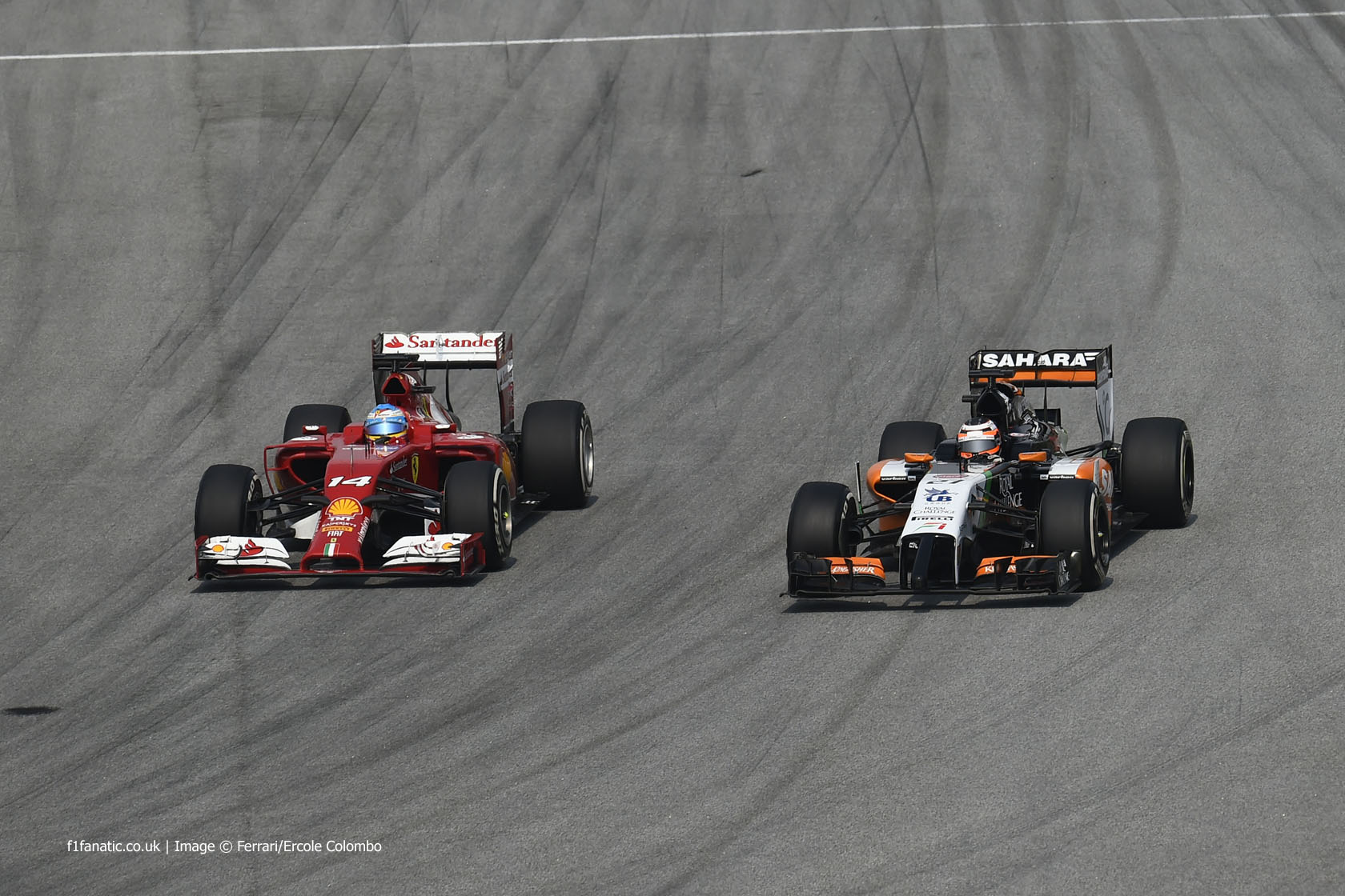 Fernando Alonso, Nico Hulkenberg, Sepang International Circuit, 2014