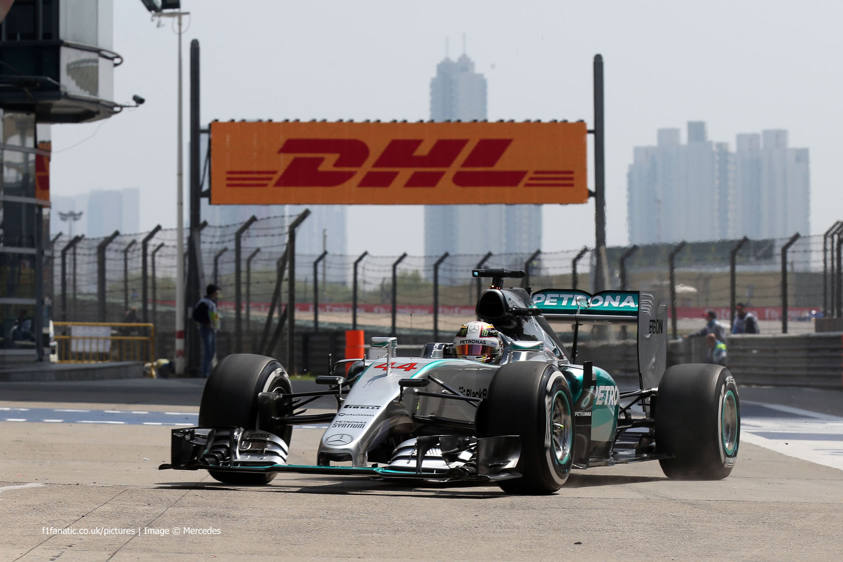 Lewis Hamilton, Mercedes, Shanghai International Circuit, 2015