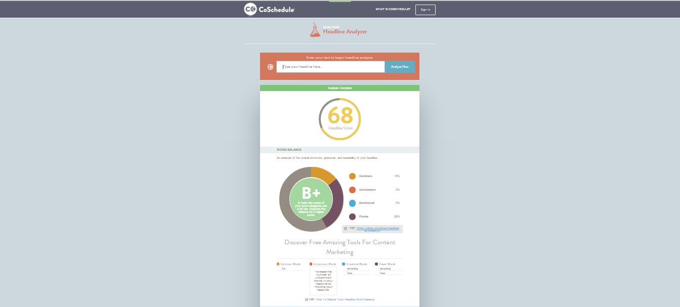 headline analizer- content marketing tool