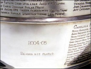 hockey lockout 2005 Stanley cup