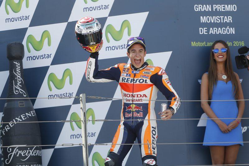 Marquez wins the Aragon GP