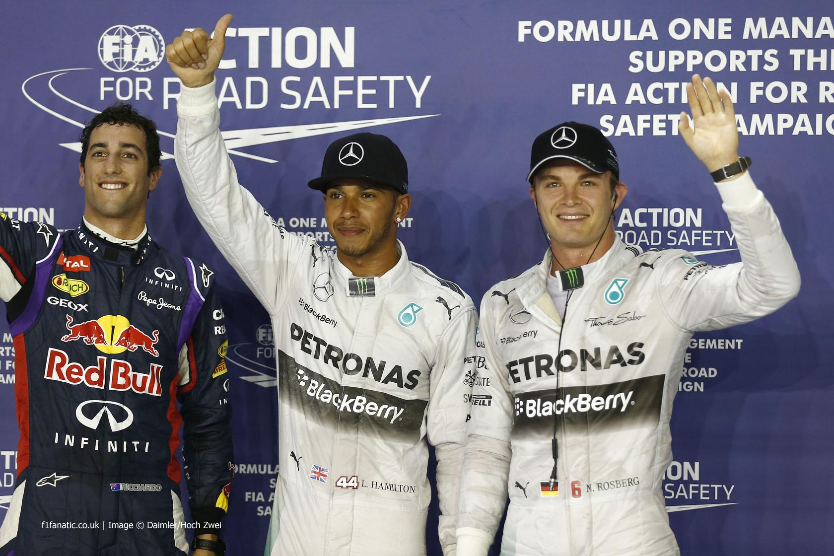 Daniel Ricciardo, Lewis Hamilton, Nico Rosberg, Singapore, 2014