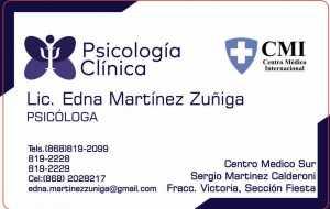 Lic. Edna Mariela Martínez Zuñiga