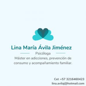 Psicóloga en adicciones-Lina María Ávila Jiménez